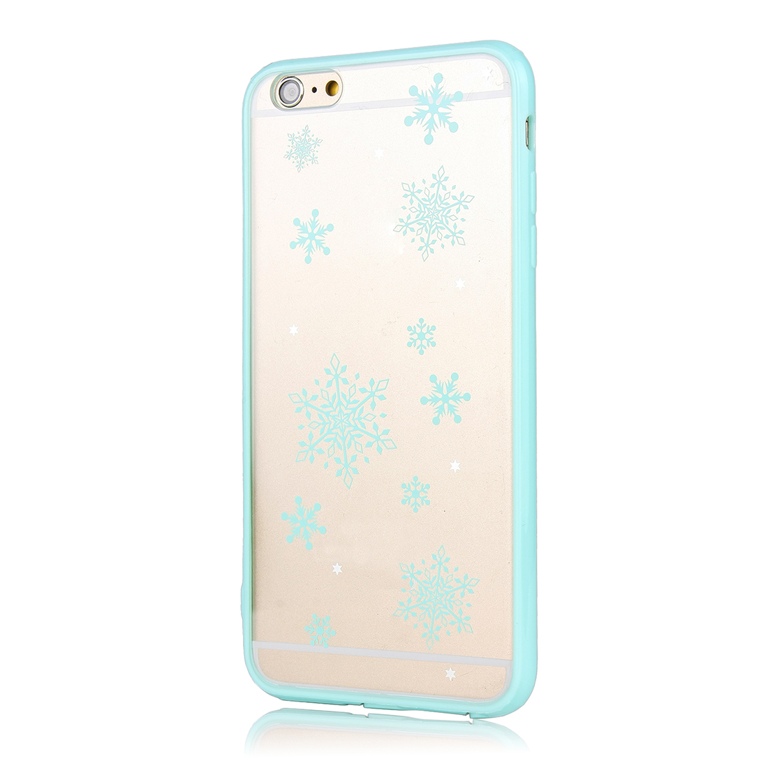 Luxury Transparent Case Cover Blue for Apple iPhone 6 Plus