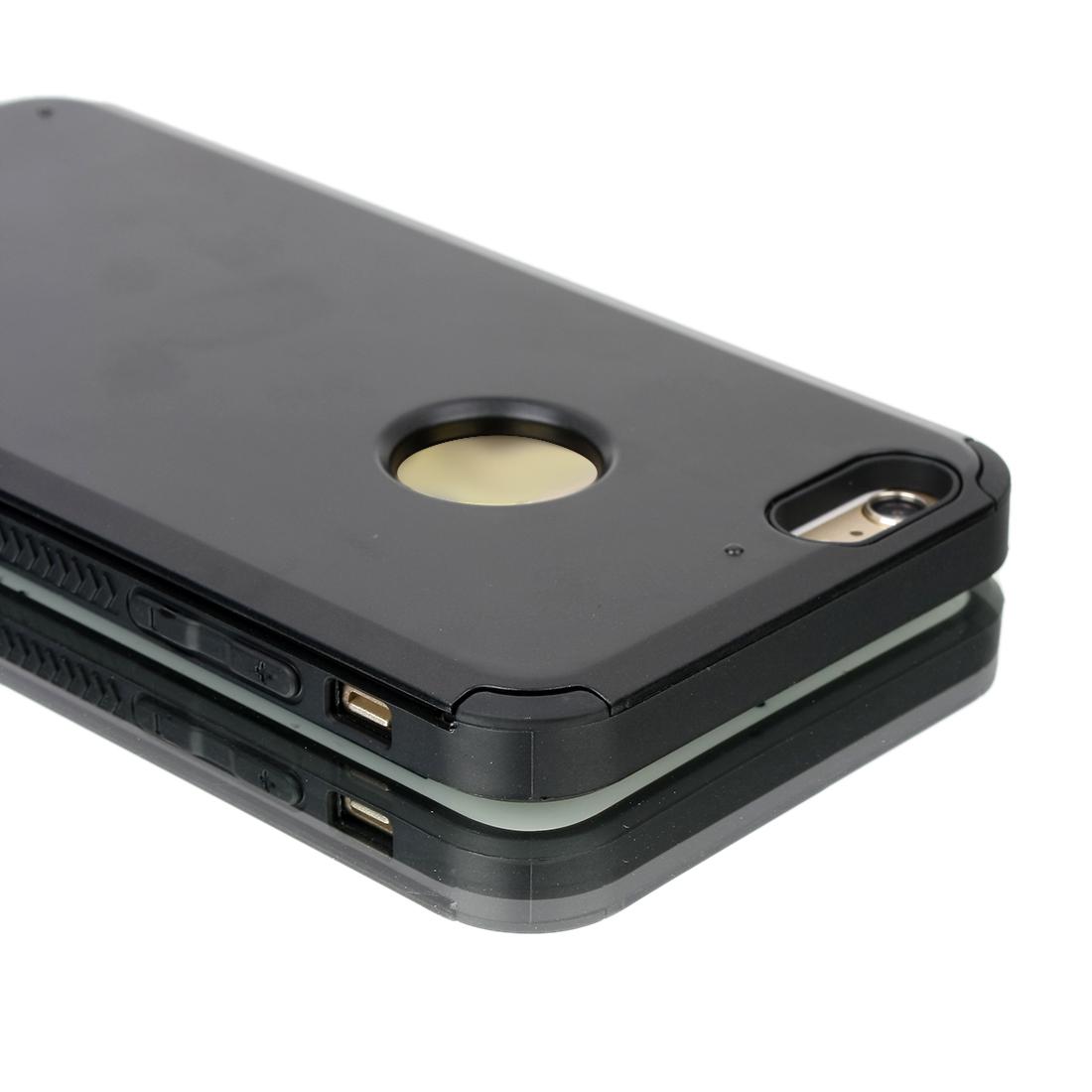 """Card pocket ShockProof Slim Hybrid Wallet Case Cover Black for iPhone 6 Plus 5.5"""""""