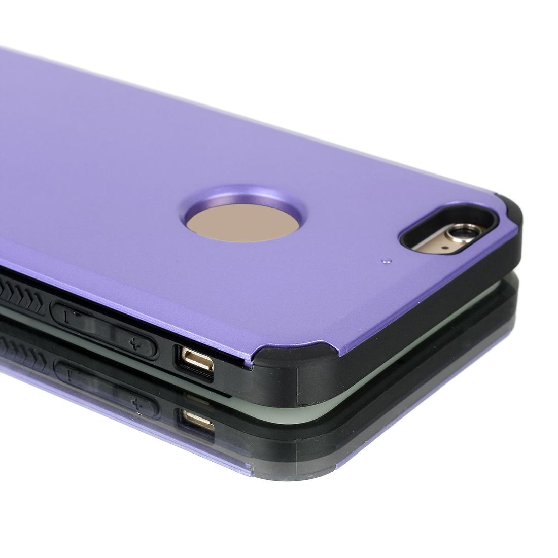 "Card Pocket ShockProof Slim Hybrid Wallet Case Cover Purple for iPhone 6 Plus 5.5"""
