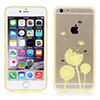 Luxury Transparent Case Cover Yellow for Apple iPhone 6
