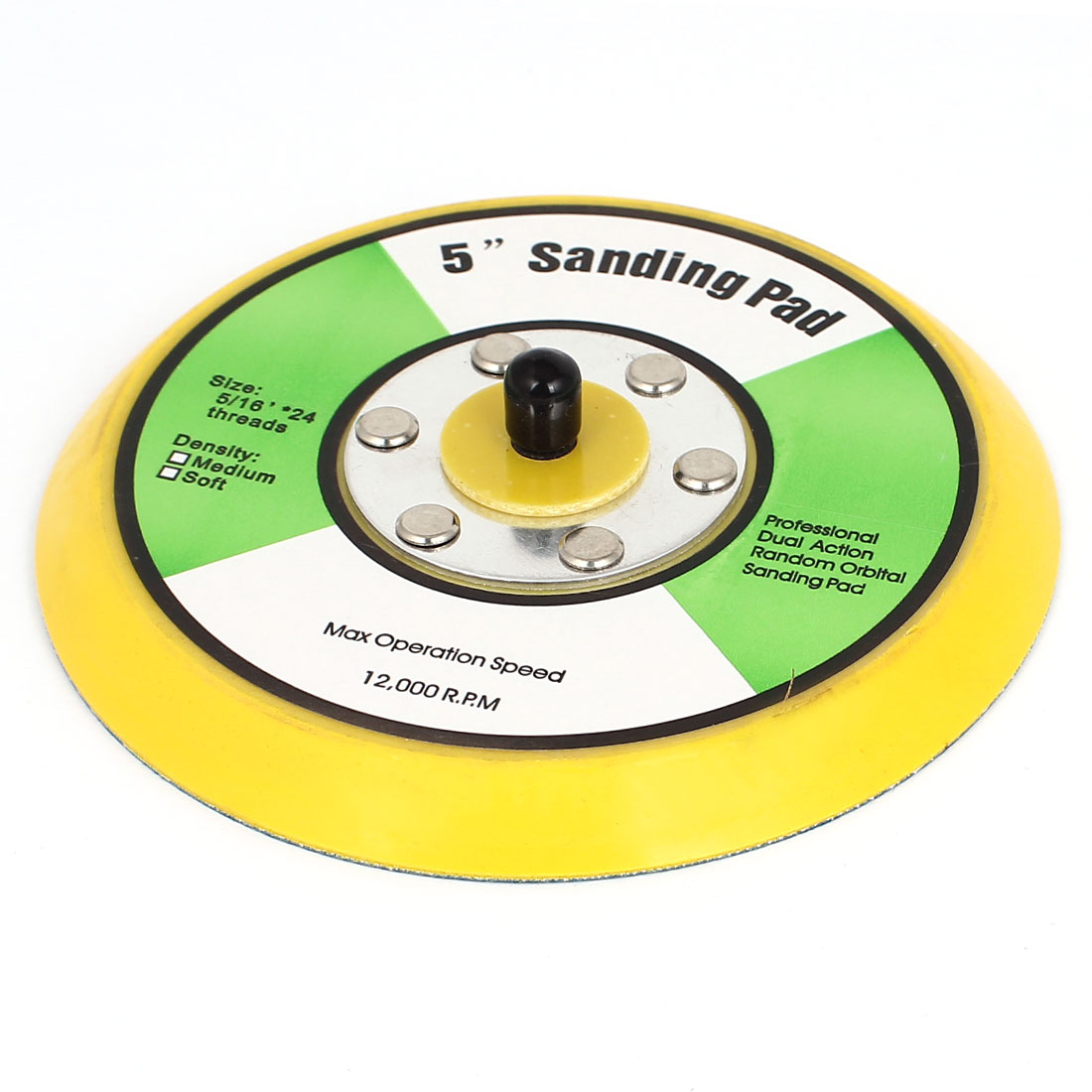 "5"" 125mm Dual Action Orbital Sanding Sand Disc Pad 24 Thread for Sander Grinder"