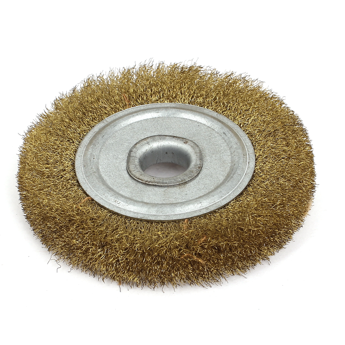 "100mm 4"" Diameter 5/8"" Arbor Crimped Copper Wire Polishing Grinding Wheel Brush"