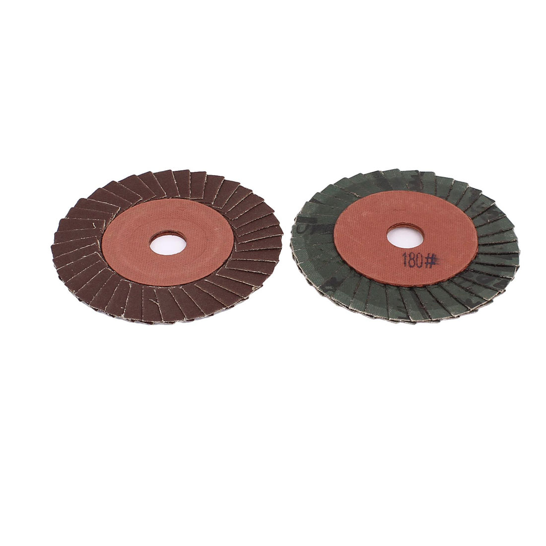 "2 Pcs 4"" 100mm Dia Sanding Flap Disc Grinding Wheel 180 Grit for Angle Grinder"