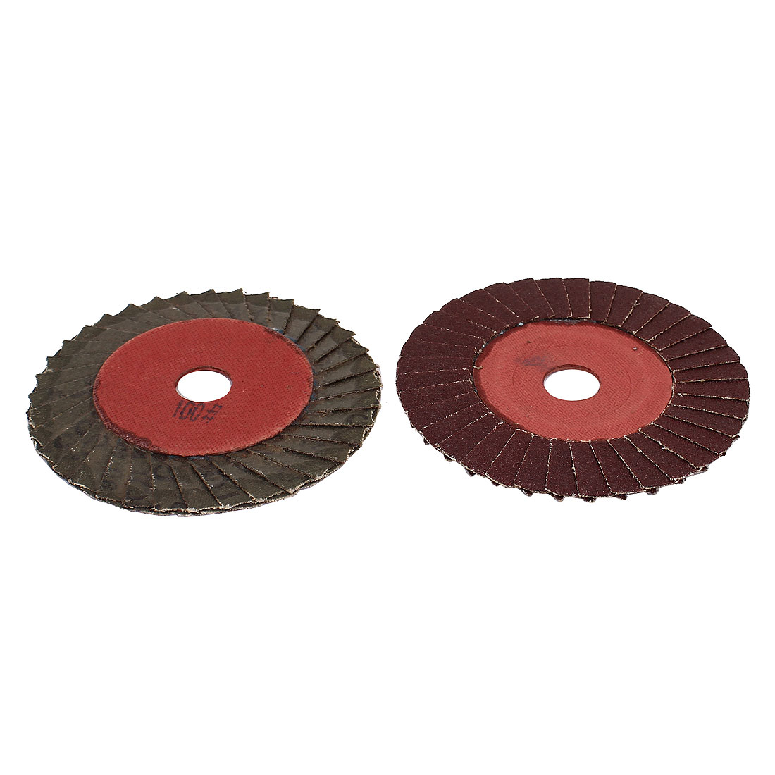 2 Pcs 100mmx16mm Abrasives Sanding Flap Disc Grinding Wheel 100 Grit