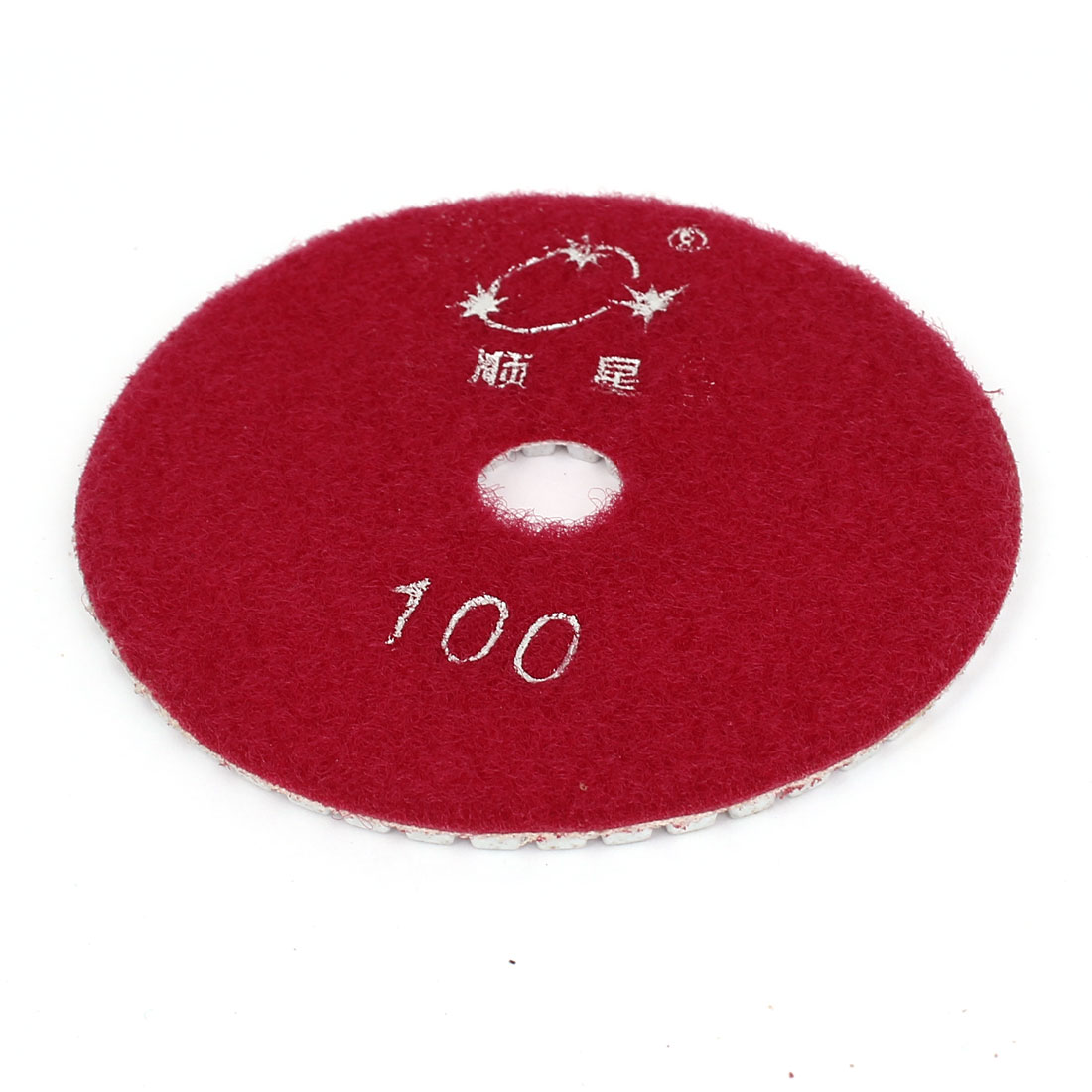 "4"" Diameter Diamond Polishing Wet Pad Red 100 Grit for Granite Concrete Marble"
