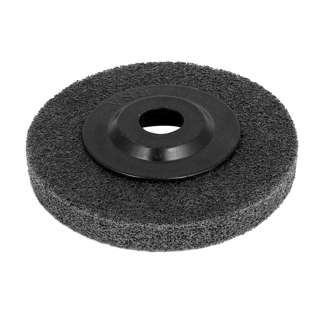 100mmx16mmx12mm Nylon Polishing Grinding Wheel Black for Angle Grinder