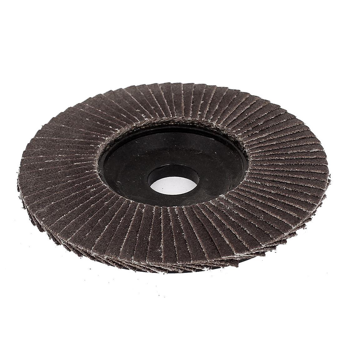 100mm Dia 16mm Hole Angle Grinder Flap Sanding Disc Grinding Wheel 120 Grit