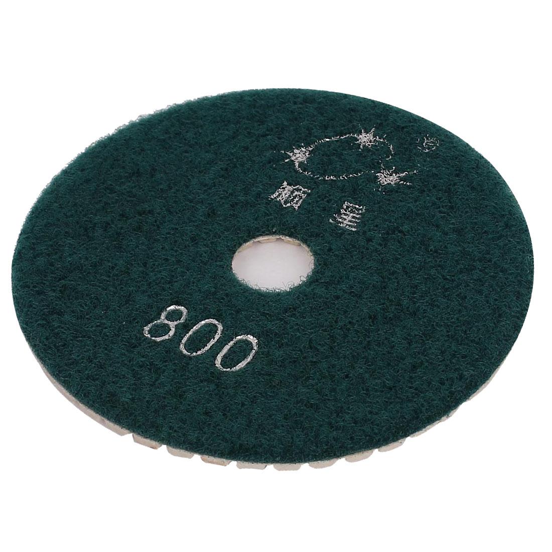 100mmx16mm Diamond Polishing Wet Pad Green 800 Grit for Granite Marble Concrete