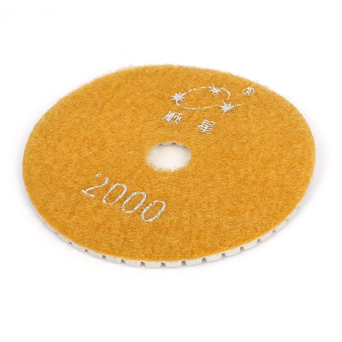 100mmx16mmx4mm Diamond Polishing Wet Pad 2000 Grit for Granite Concrete Stone