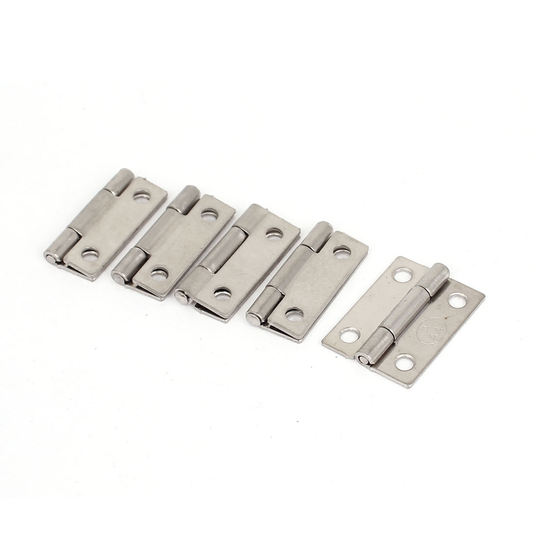 Cupboard Cabinet Stainless Steel Folding Door Butt Hinges 25mm Long 5pcs