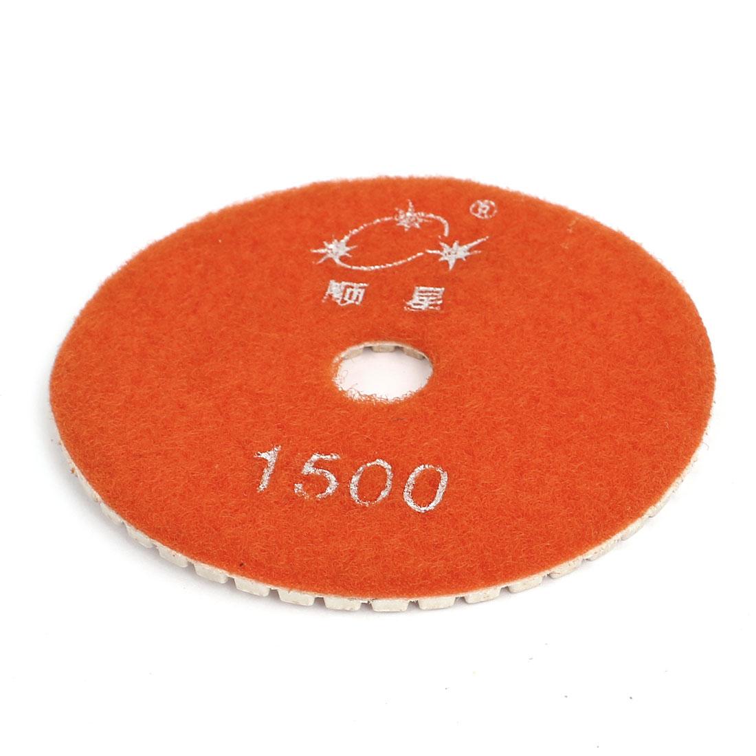 100mmx16mm Wet Diamond Polishing Pad Polisher 1500 Grit for Marble Granite