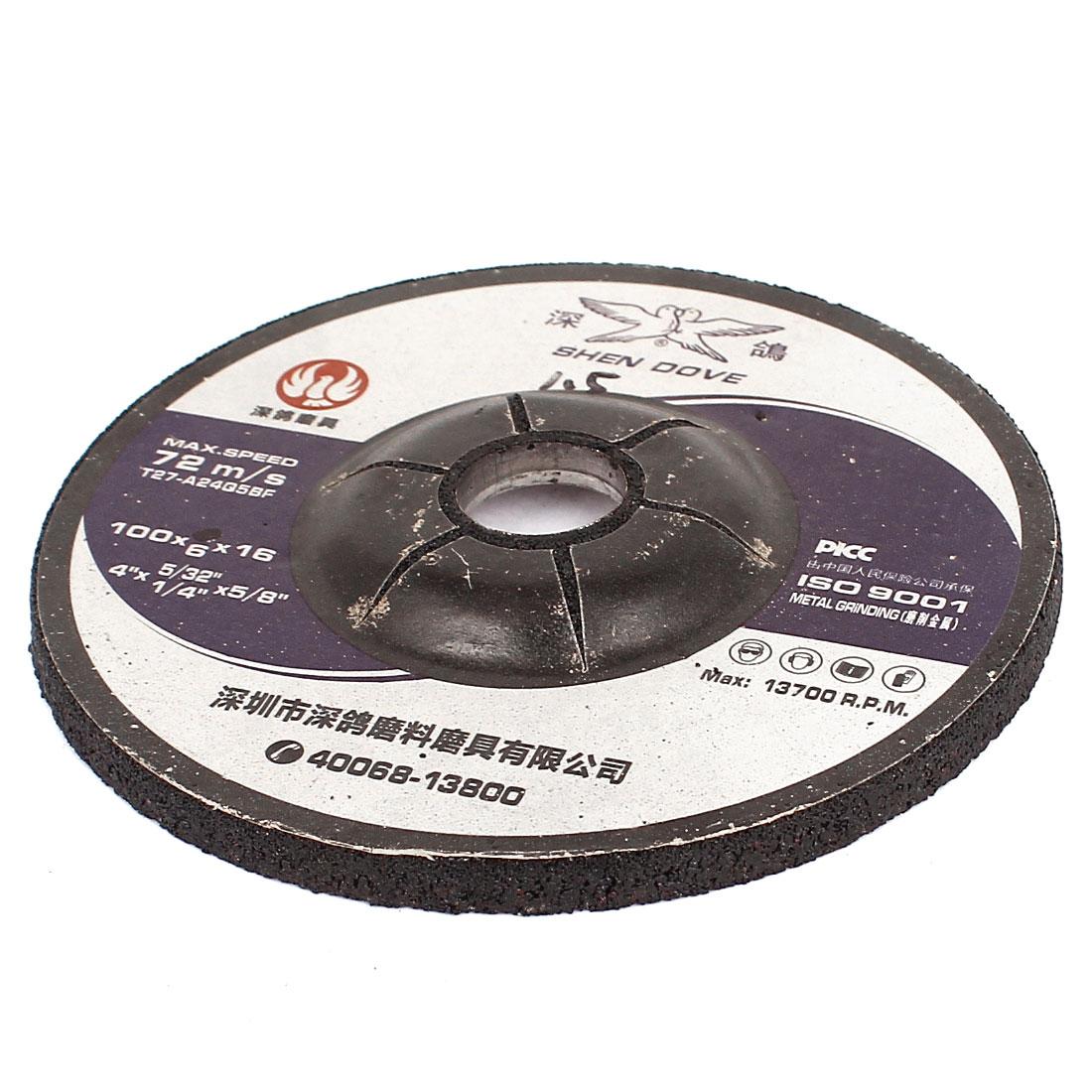 """100mm 4"""" Diameter Abrasives Sanding Grinding Disc Wheel 6mm Thickness"""