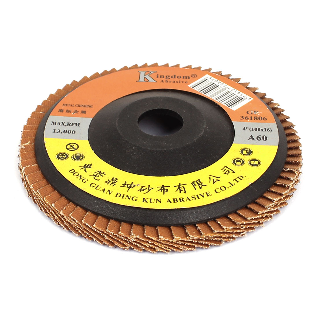"4"" 100mm Diameter Sanding Flap Disc Grinding Wheel 60 Grit for Angle Grinder"