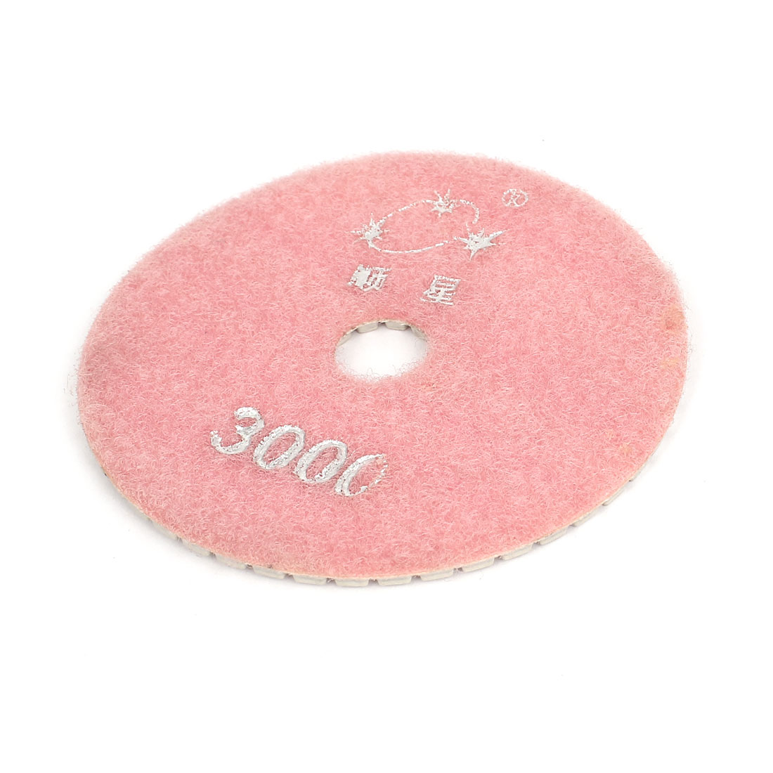 "4"" 100mm Dia Diamond Polishing Pad Pink 3000 Grit for Granite Concrete Marble"