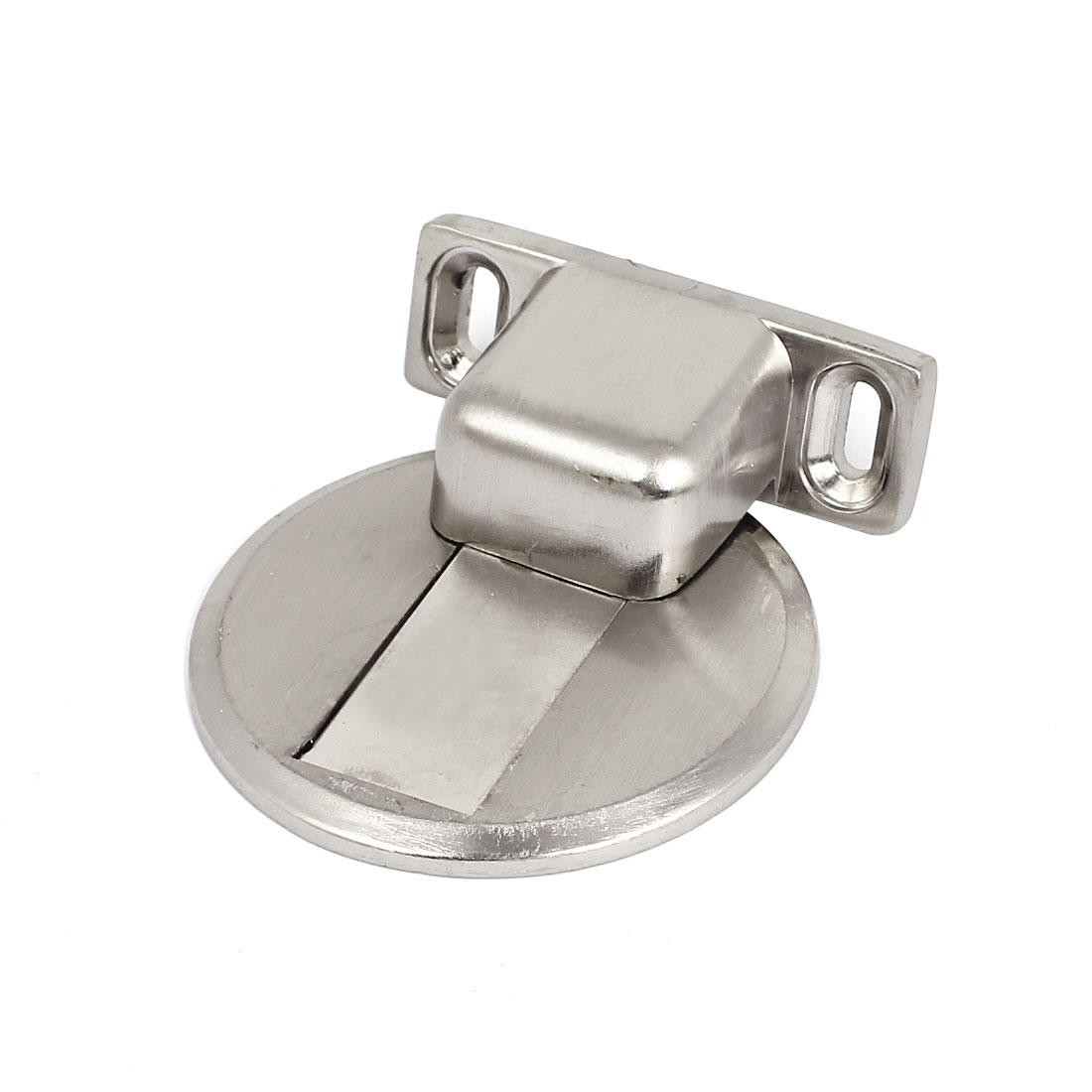 Home Office Stainless Steel Magnetic Door Stop Stopper Catch Silver Tone