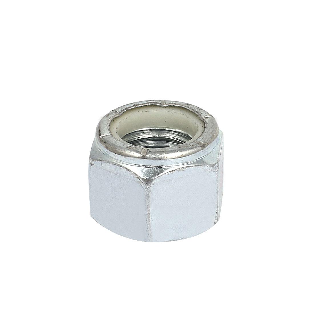 "7/8""-9 Zinc Plated Nylock Self-Locking Nylon Insert Hex Lock Nuts"