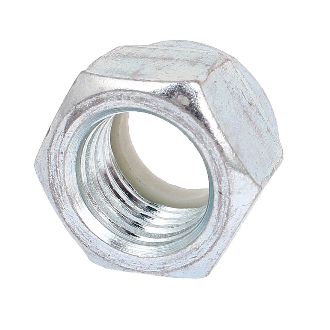 "Zinc Plated Nylock Self-Locking Nylon Insert Hex Lock Nuts 1""-8"