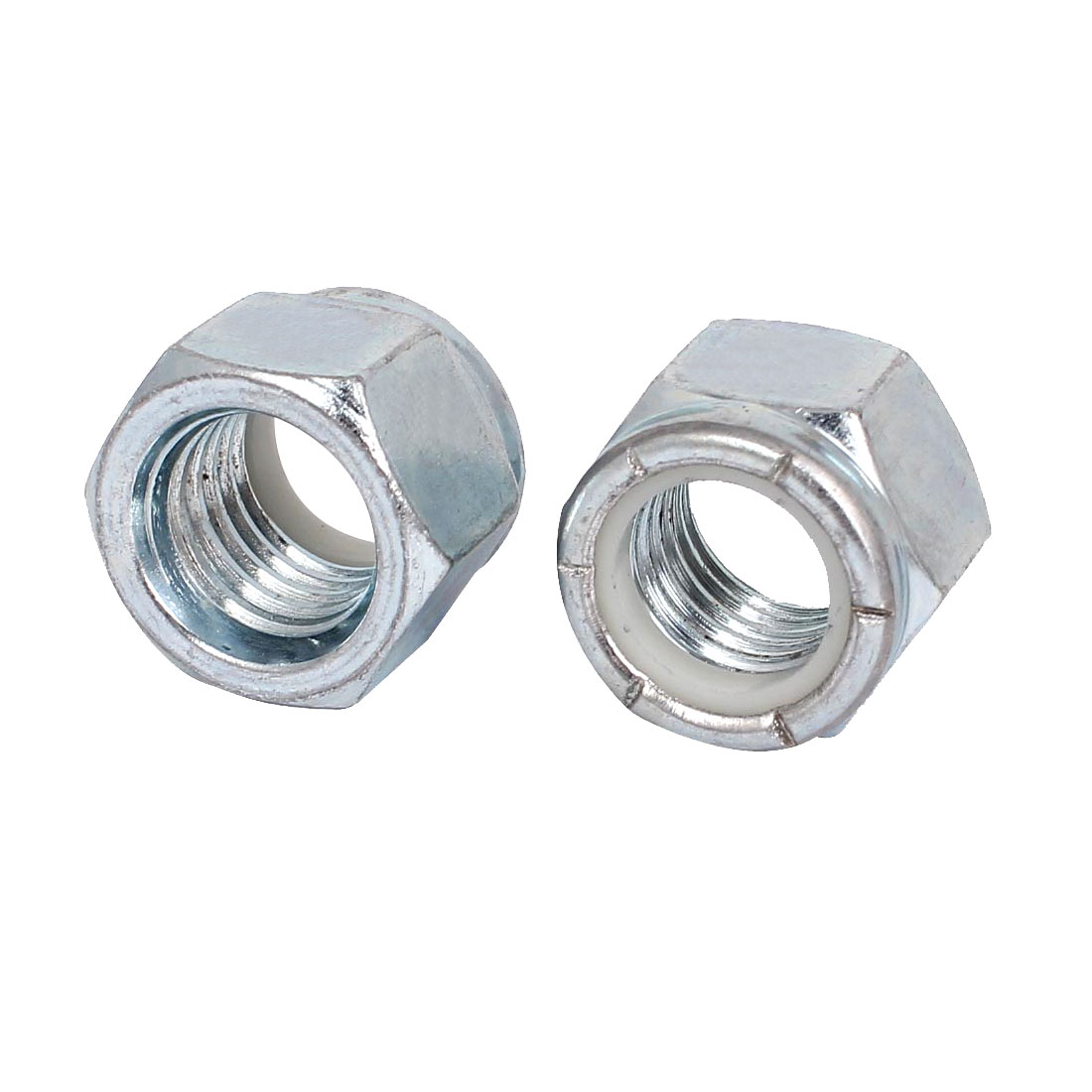 "2pcs Zinc Plated Nylock Self-Locking Nylon Insert Hex Lock Nuts 3/4""-10"