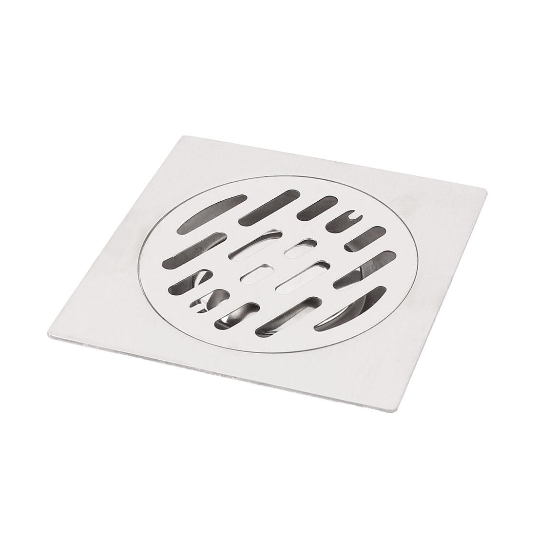 "Kitchen Bathroom Shower Sink Square Floor Drain Outlet Waste Grate Strainer 3"""