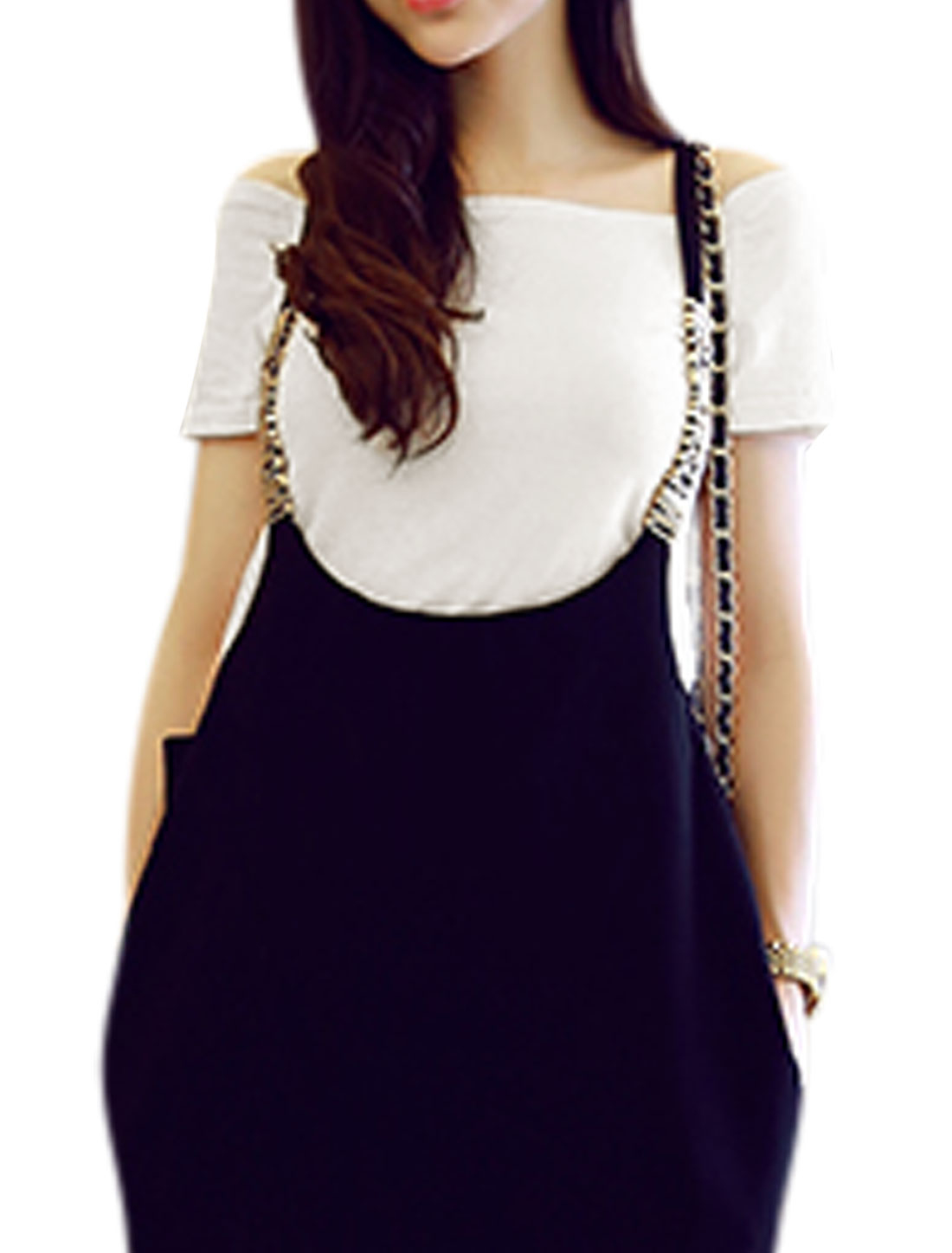 Ladies Short Sleeve Off Shoulder Casual Summer Top White S