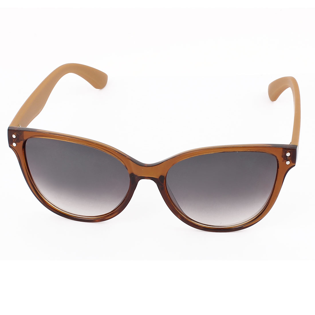 Unisex Single Bridge Plastic Full Rim Gradient Lens Sunglasses Eyeswear Glasses Eyes Protector Yellow