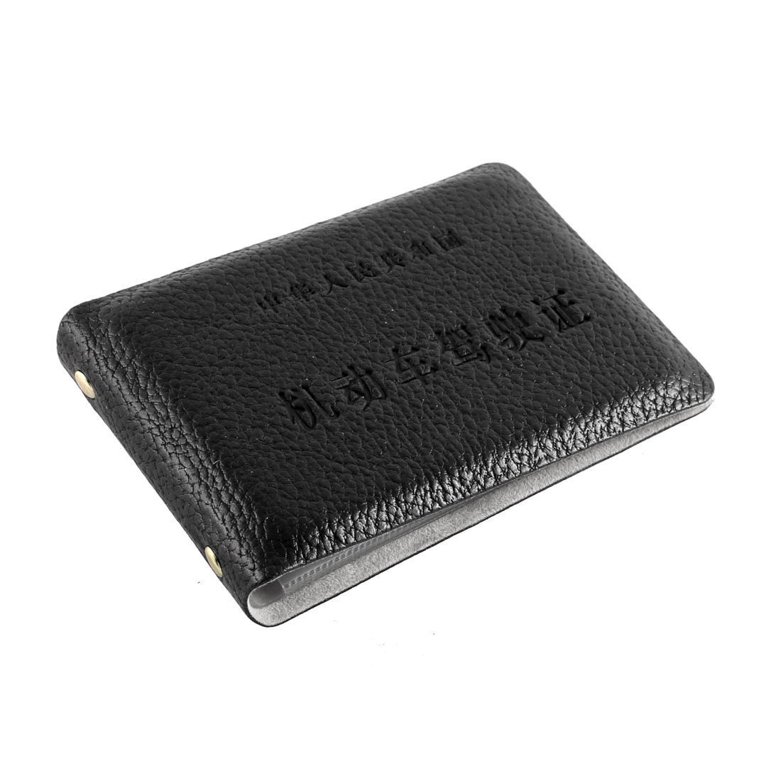 Black Faux Leather Drivers Driving Licence ID Card Holder Wallet Cover