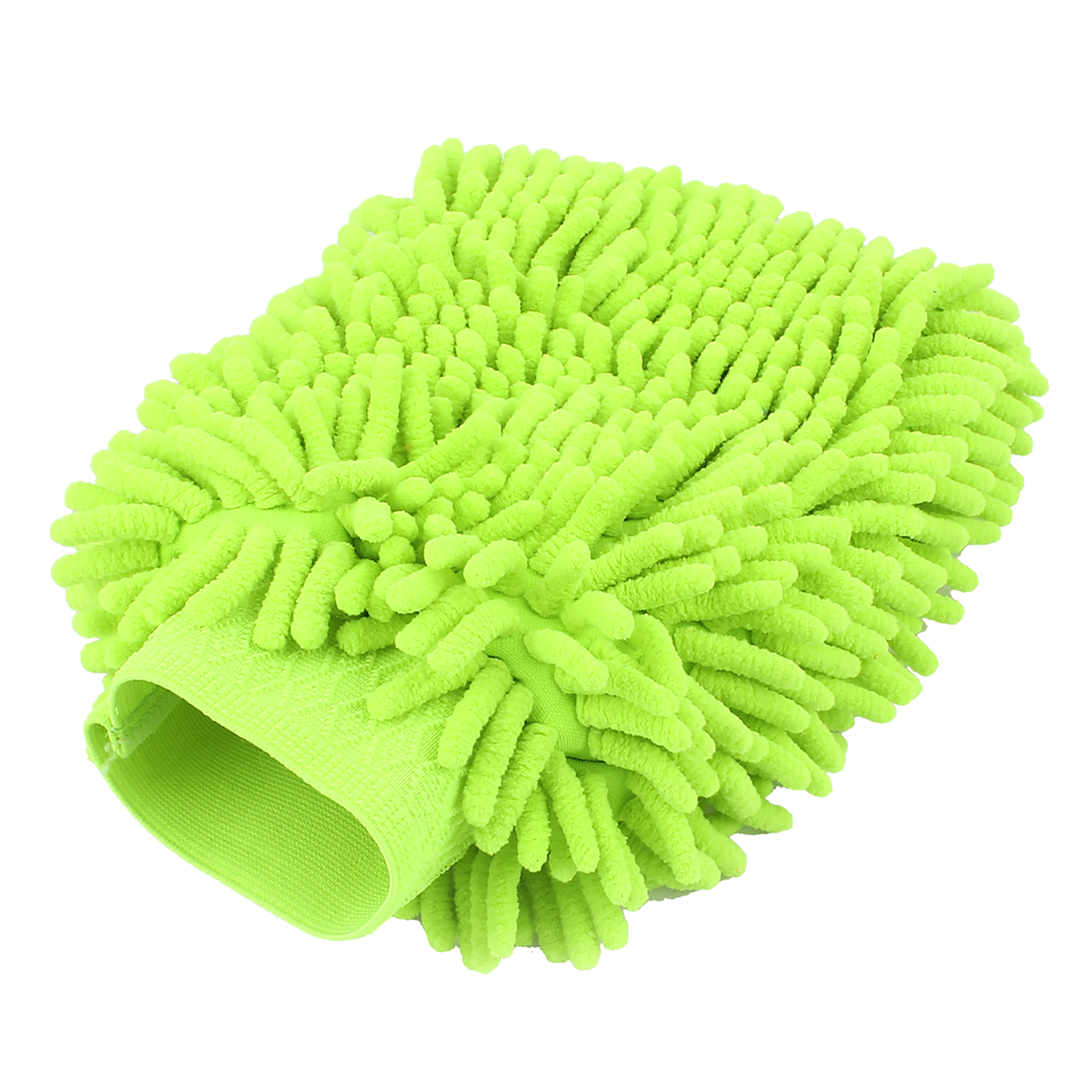 Car Mitt Microfiber Wash Washing Cleaning Glove Anti Scratch Fluorescent Green