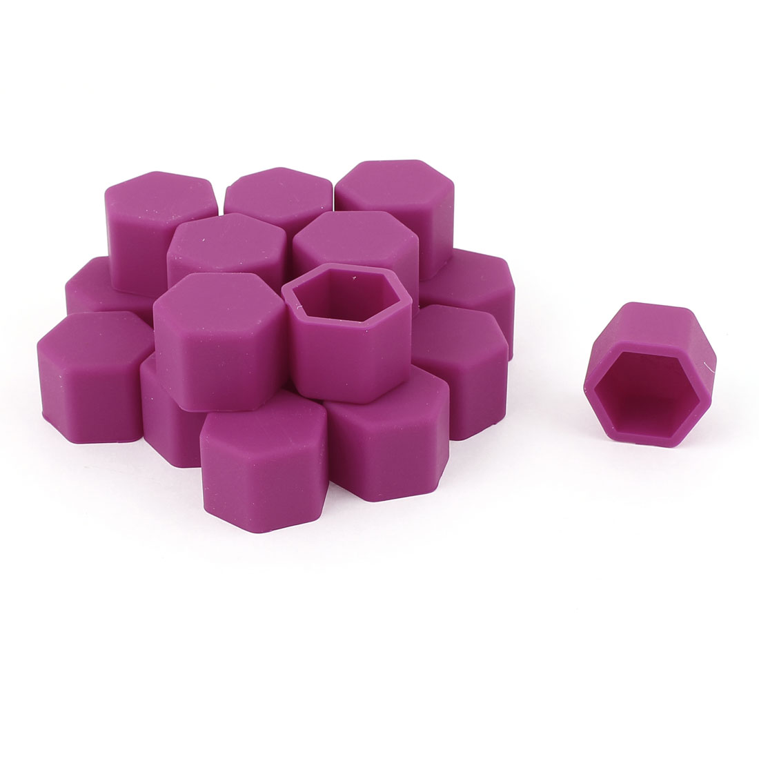 20 Pcs 19mm Silicone Wheel Covers Hub Tyres Screw Dust Caps Purple for Nissan Toyota