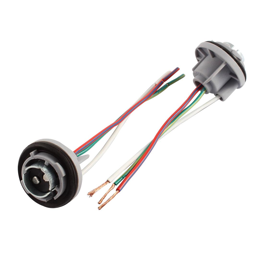 BAY15D 1157 LED Car Signal Stop Brake Bulb Lamp Light Socket Holder 2 Pcs