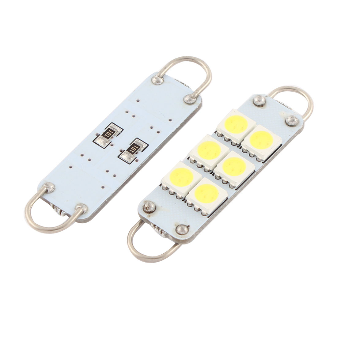 "2 Pcs 44mm 5050 SMD 12 LED White Festoon 1.7"" Light Bulbs 561 562 567 564 Internal"