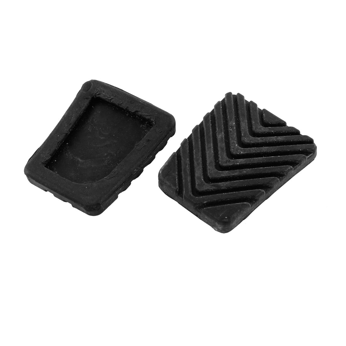 2Pcs Black Rubber Clutch Pedal Pad for Car