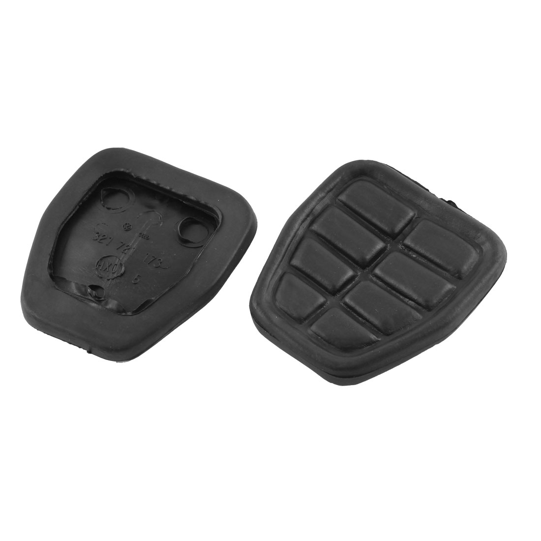 2Pcs Brake Pedal Rubber Black for Volkswagen 321 721 173