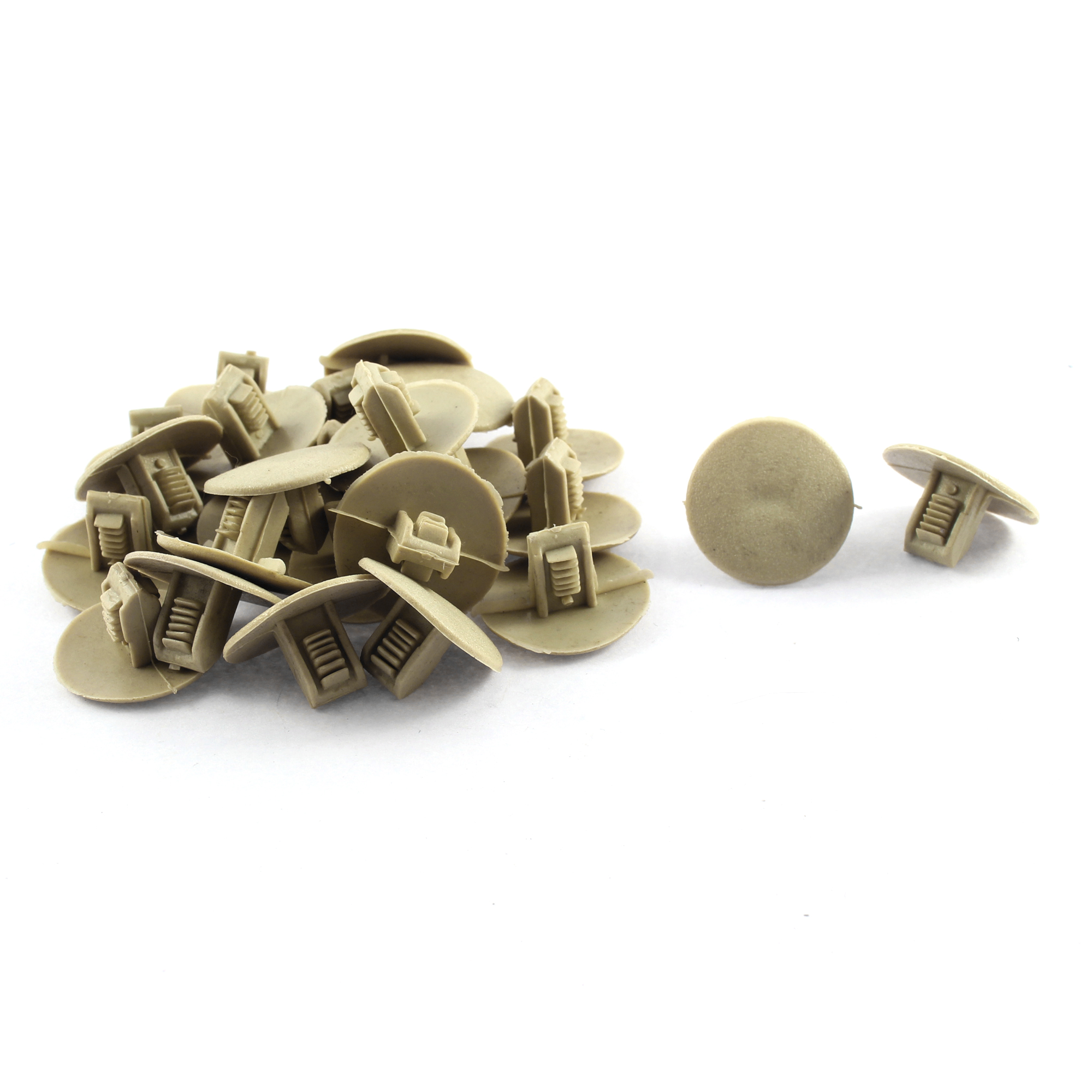 25x Car Plastic Push in Fastener Rivets Clips Beige