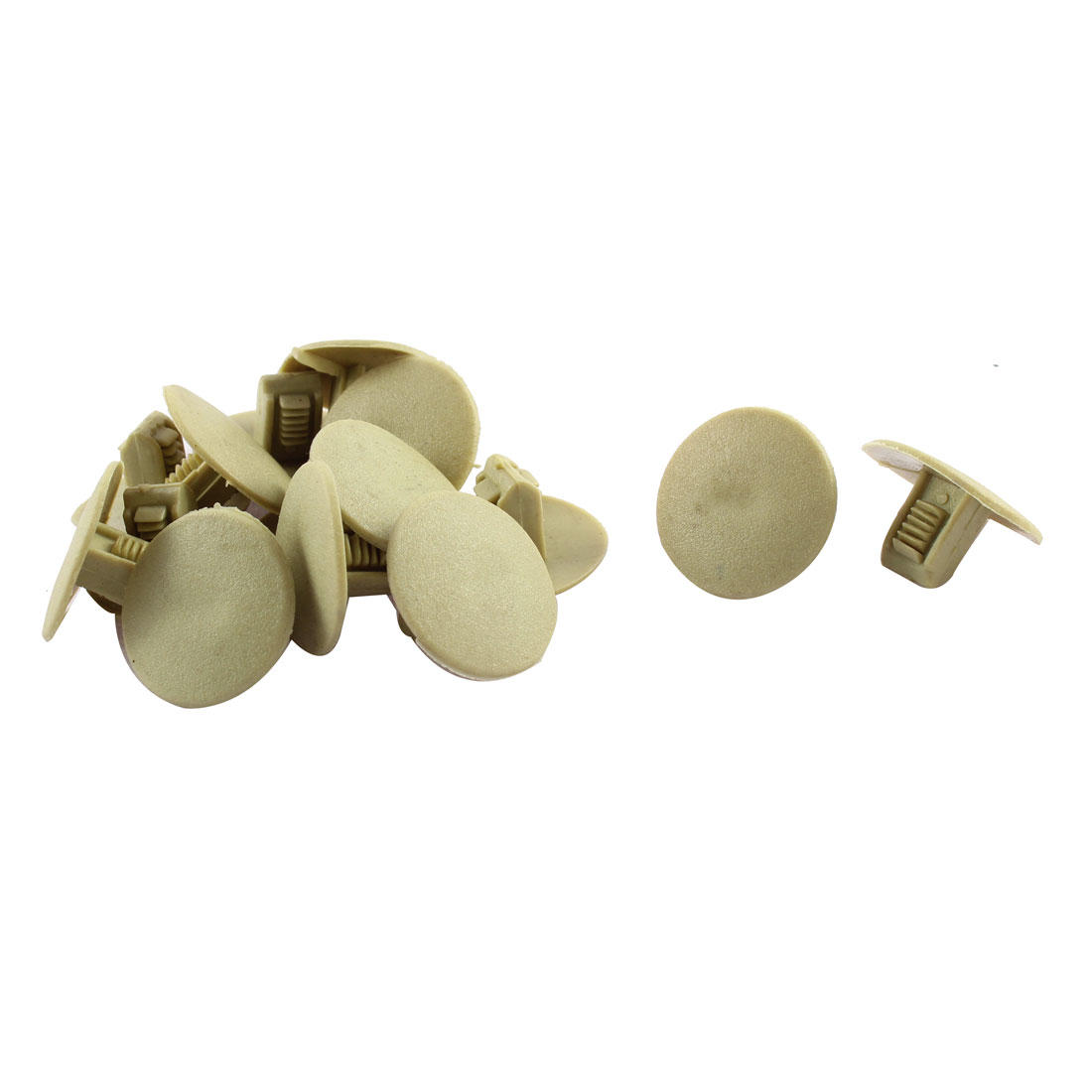 15x Car Plastic Push in Fastener Rivets Clips Beige
