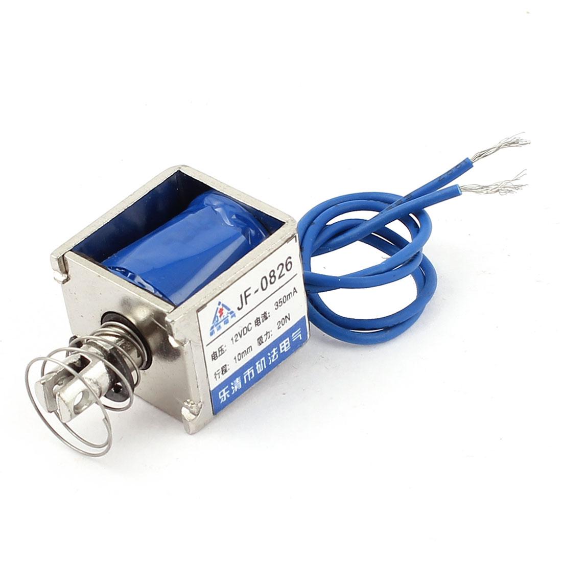 12V 350mA 10mm 20N Open Frame Actuator DC Solenoid Electromagnet