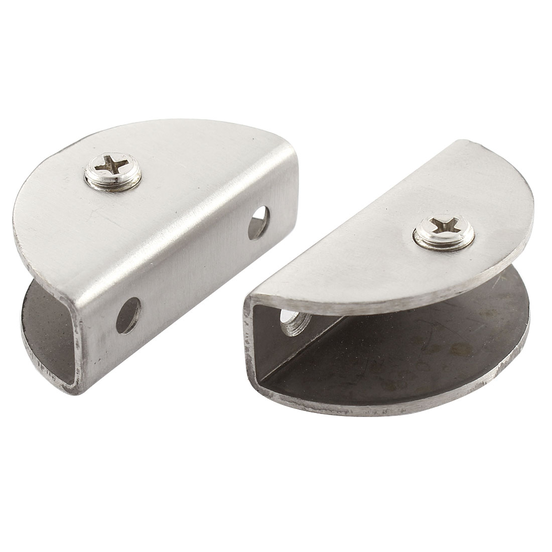 2 Pcs Stainless Steel Bracket Support Glass Clamp Clip 13mm Thickness