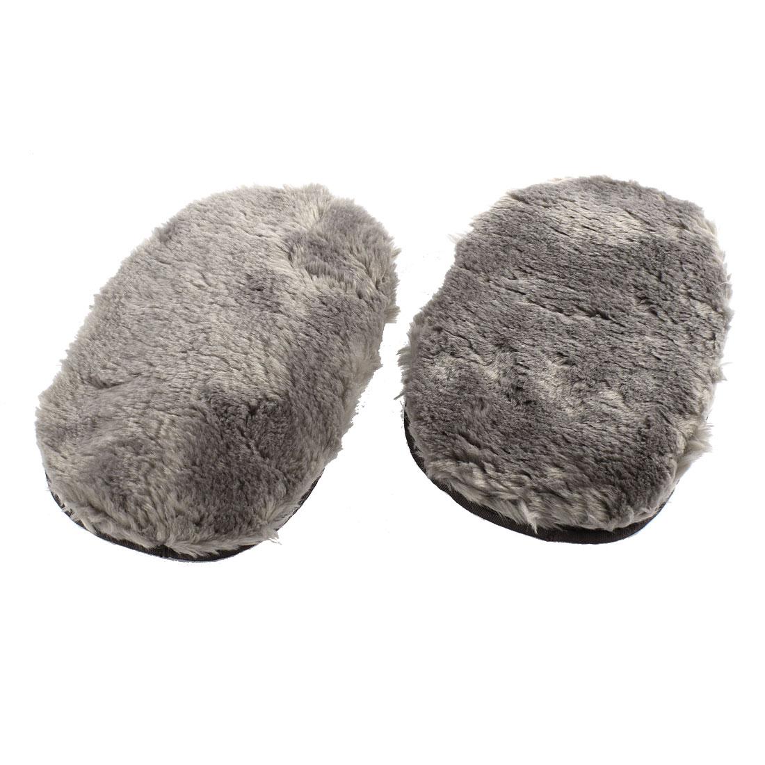 Pair Gray Plush Duster Towel Car Window Washing Cleaning Gloves Cloth Mitt