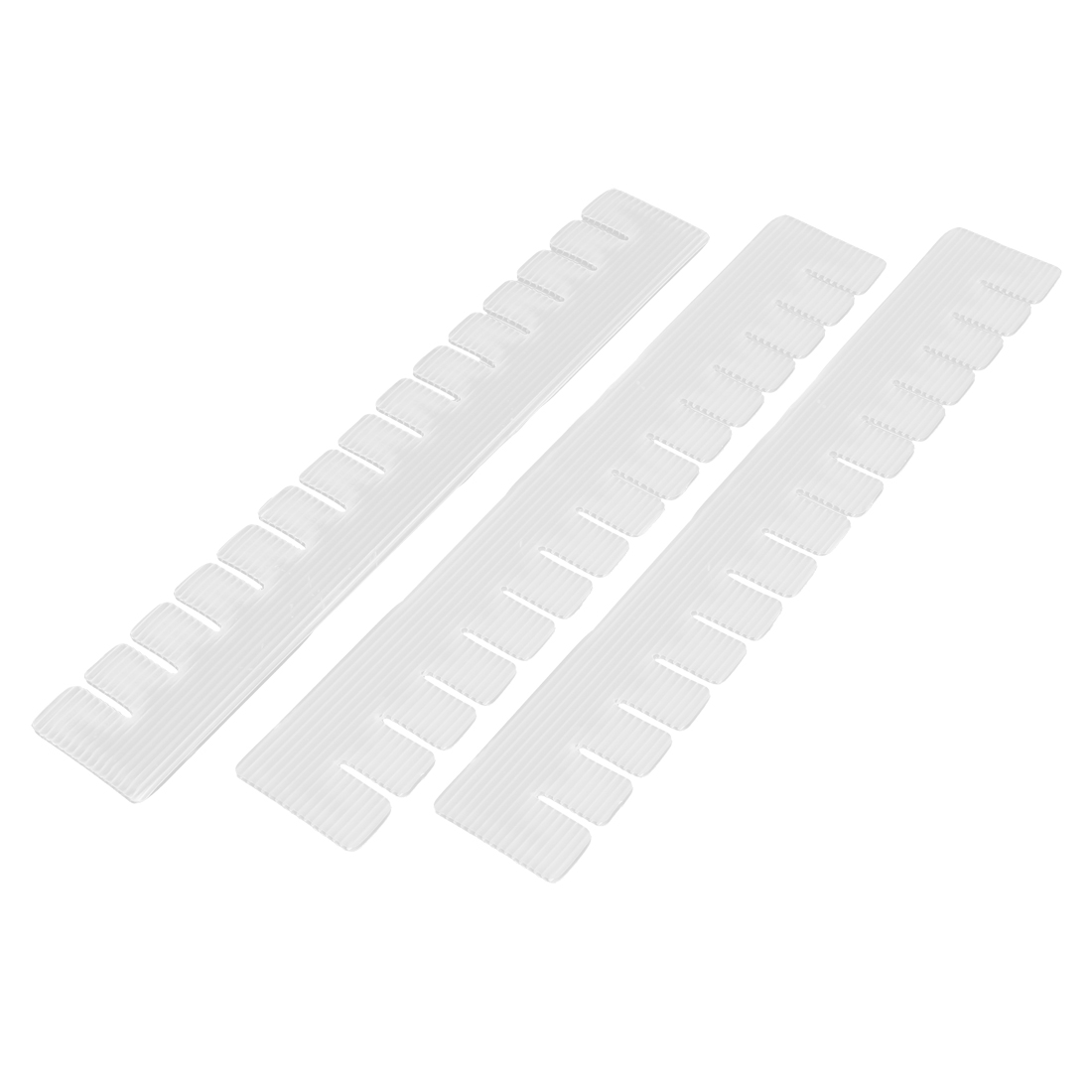 3 Pcs White Plastic Household DIY Grid Storage Box Drawer Divider