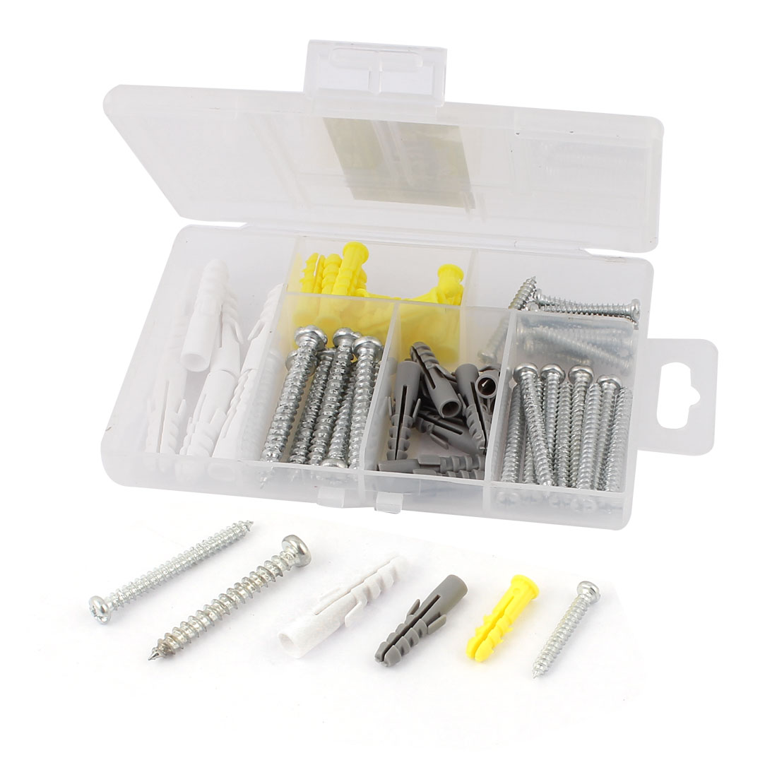 58 In 1 Expansion Nails Long Cross Head Screws Household Fastener Set