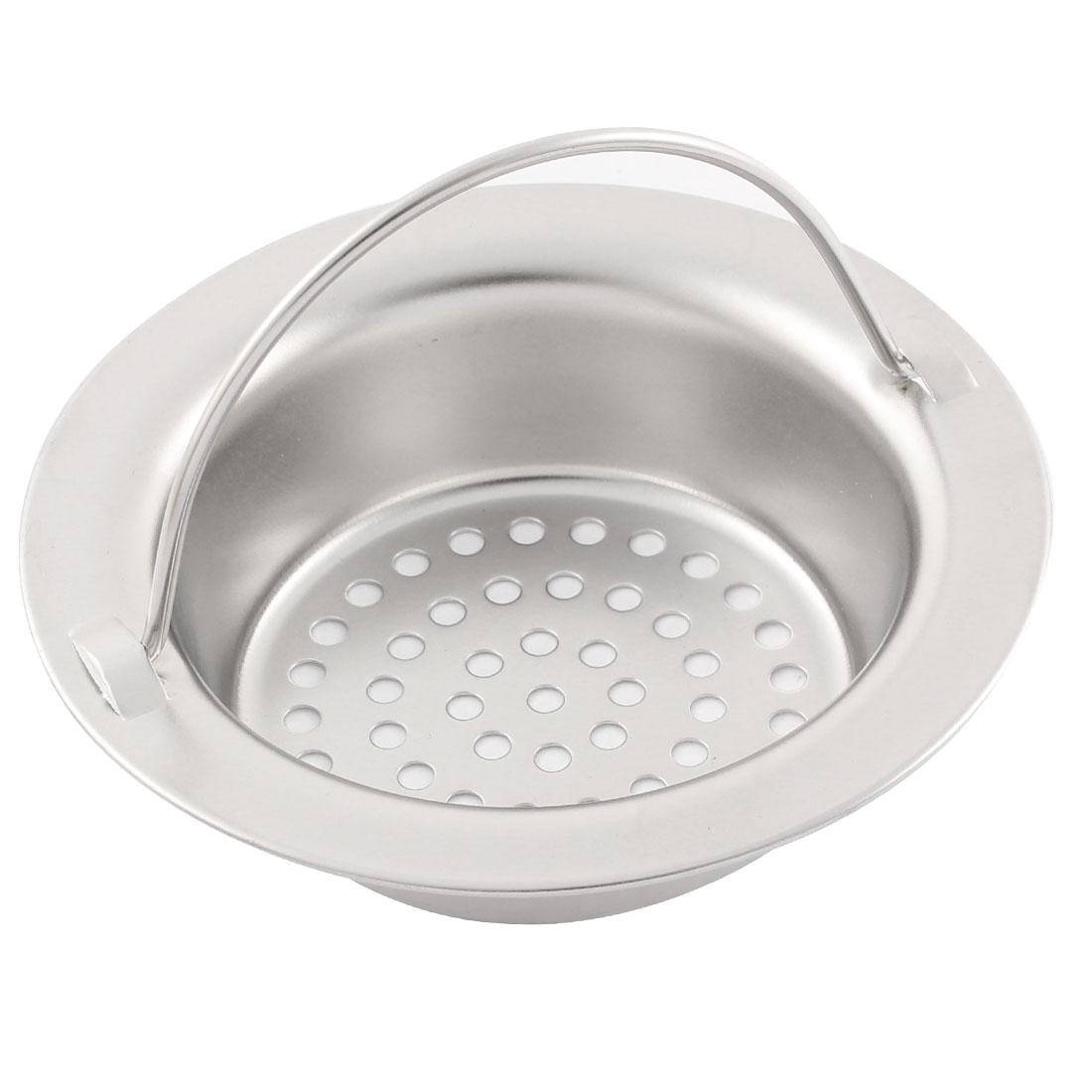 Kitchen Bath Stainless Steel Handle Mesh Sink Drain Basin Strainer Stopper