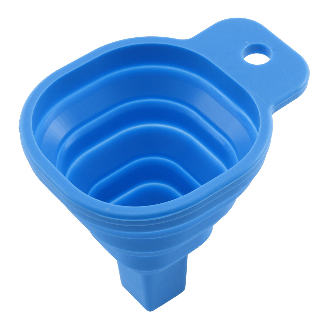 Home Kitchen Tool Practical Foldable Gadget Silicone Funnel Hopper Blue