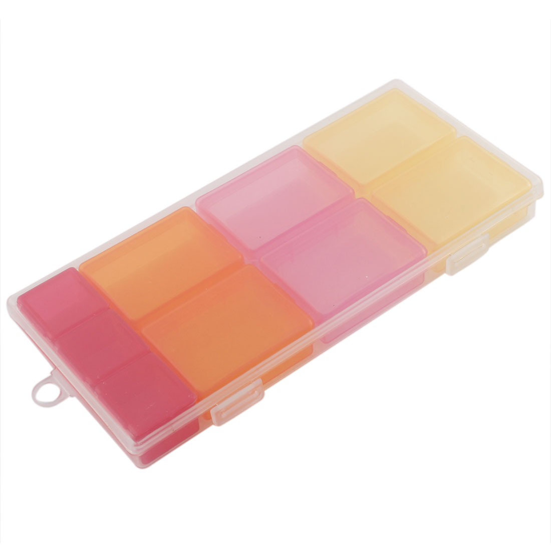 Healthcare Products 9 Components Pill Box Organizer Planner Case Multicolor