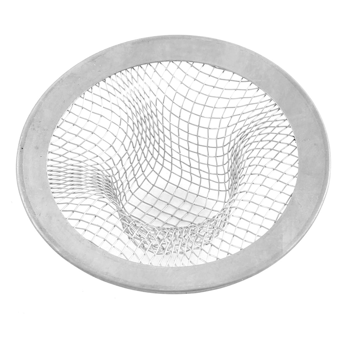 2.1 Inch Dia Stainless Steel Round Mesh Square Hole Sink Strainer for Bathroom