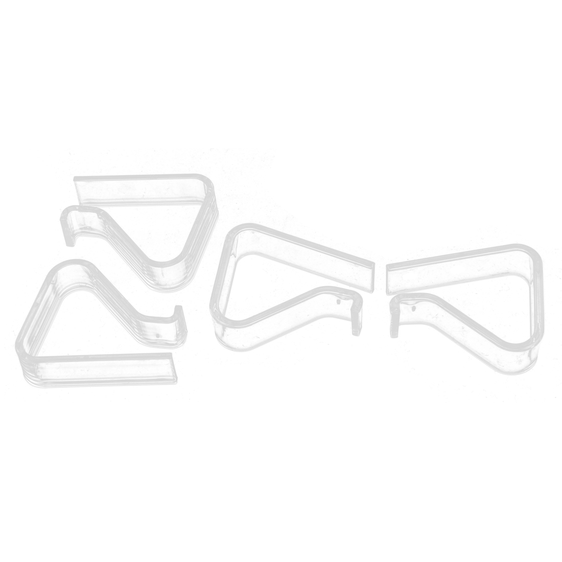 Wedding Party Picnic Clear Table Cover Tablecloth Clips Holder 4 Pcs