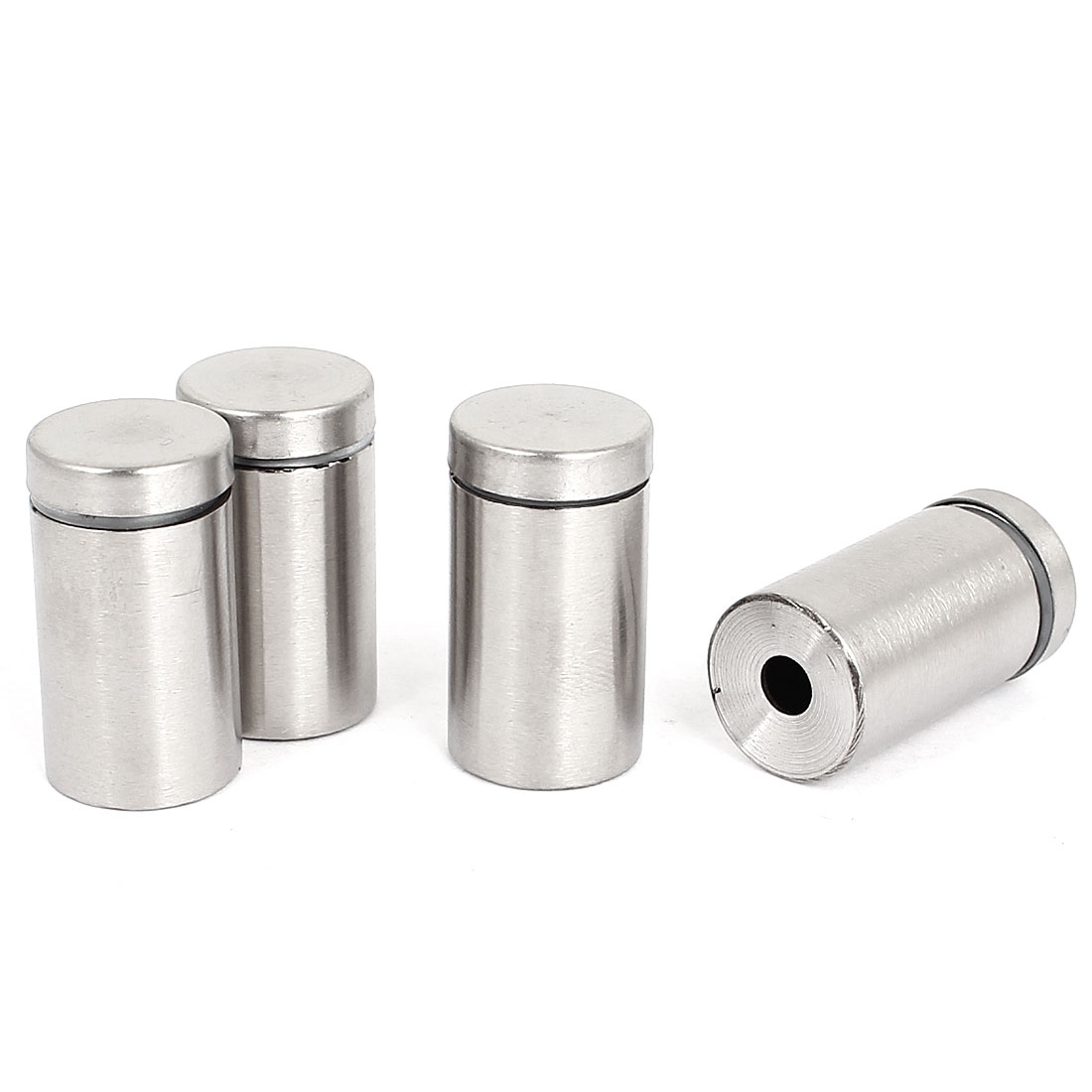 16mm x 30mm Stainless Steel Advertising Nails Glass Standoff Hardware 4 Pcs