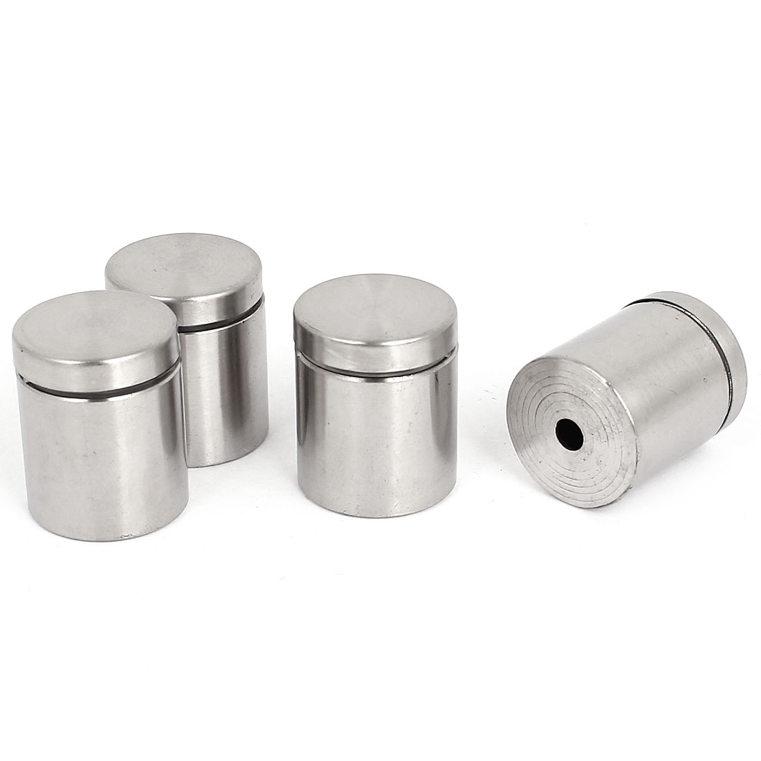 25mm x 30mm Stainless Steel Advertising Nails Glass Standoff Clamp 4 Pcs