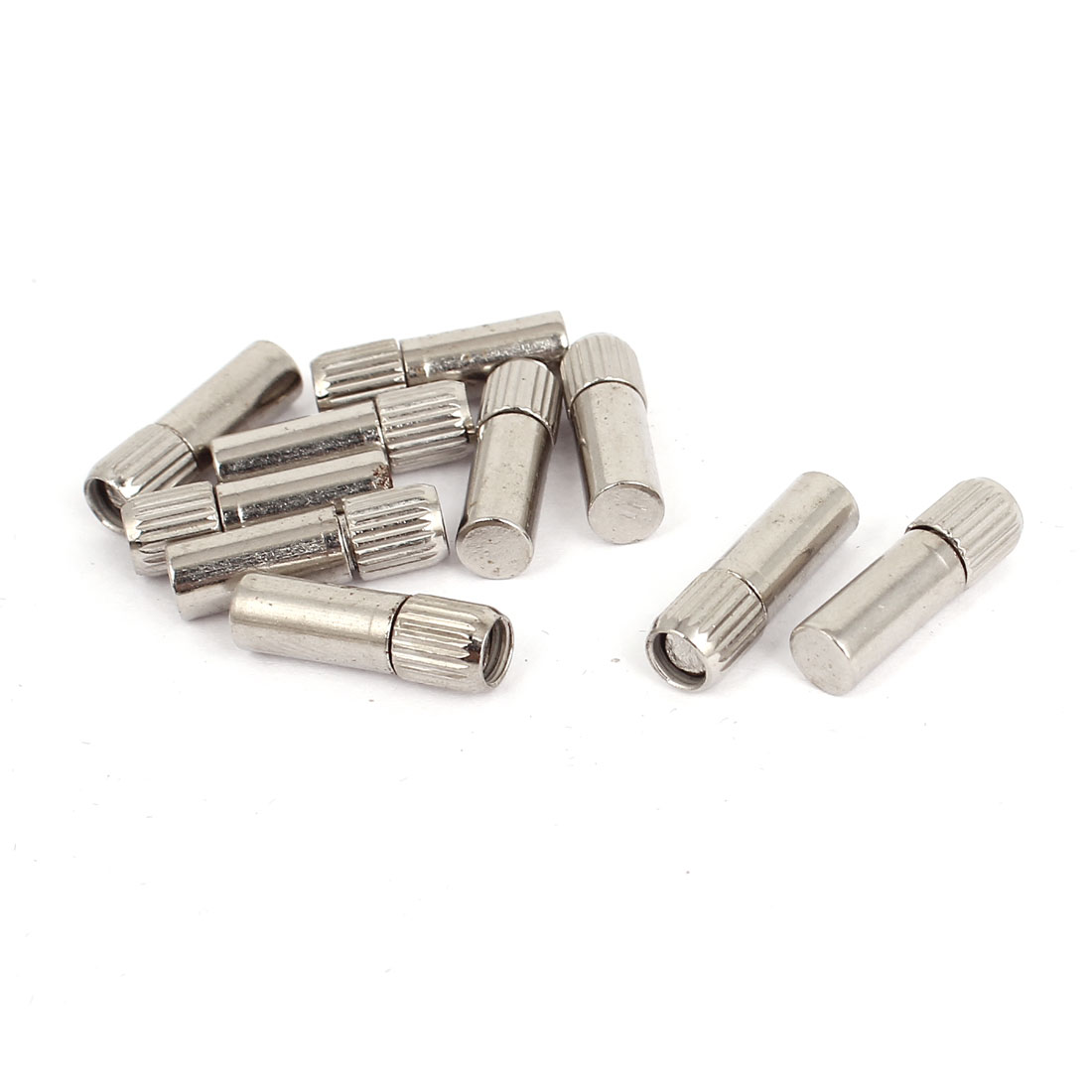 6mm x 20mm Furniture Cabinet Straight Shelf Supports Pegs Pins 10 Pcs