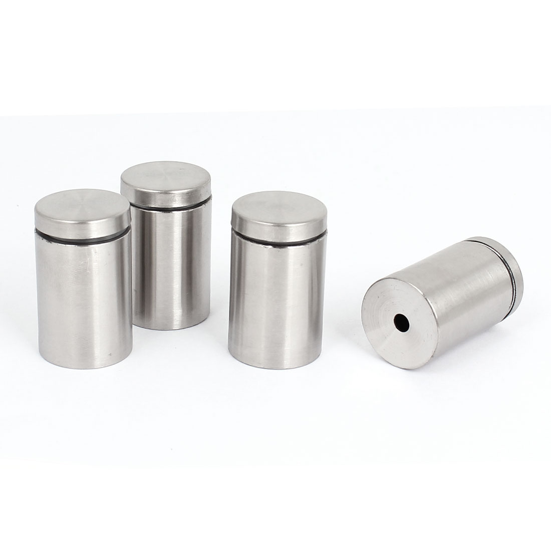 25mm x 40mm Stainless Steel Advertising Nails Glass Standoff Holder 4 Pcs