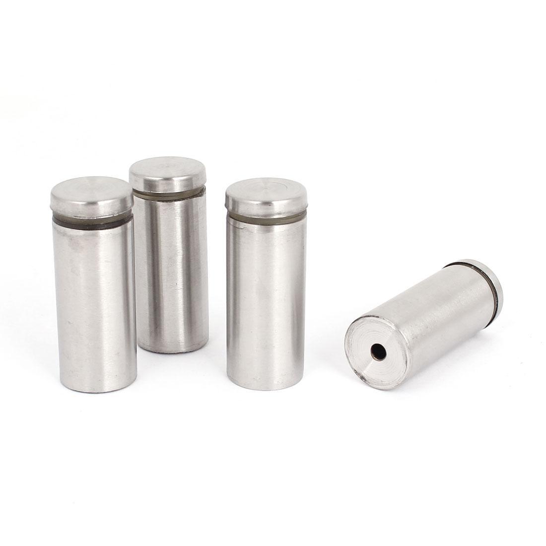 25mm x 60mm Stainless Steel Advertising Nails Frameless Glass Standoff 4 Pcs