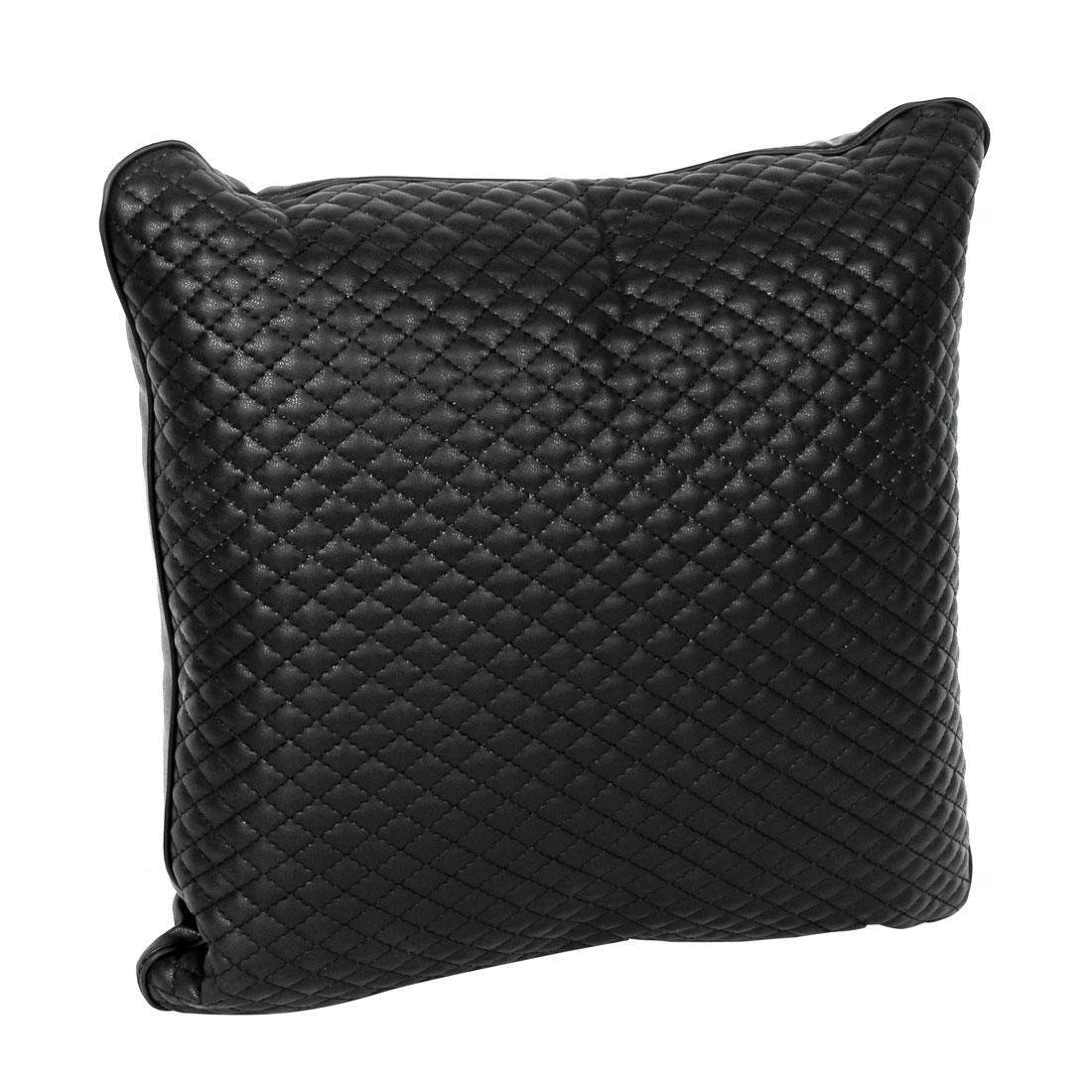 Black Rhombus Print Car Vehicle Interior Throw Pillow Cushion Pad 38 x 38cm